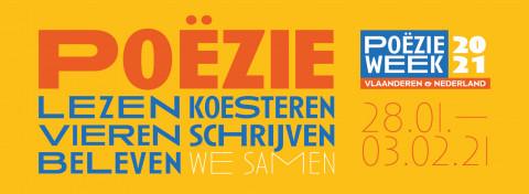 gele banner poëzieweek